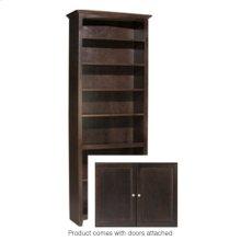 """CAF 84""""H x 30""""W McKenzie Alder Bookcase w/doors"""