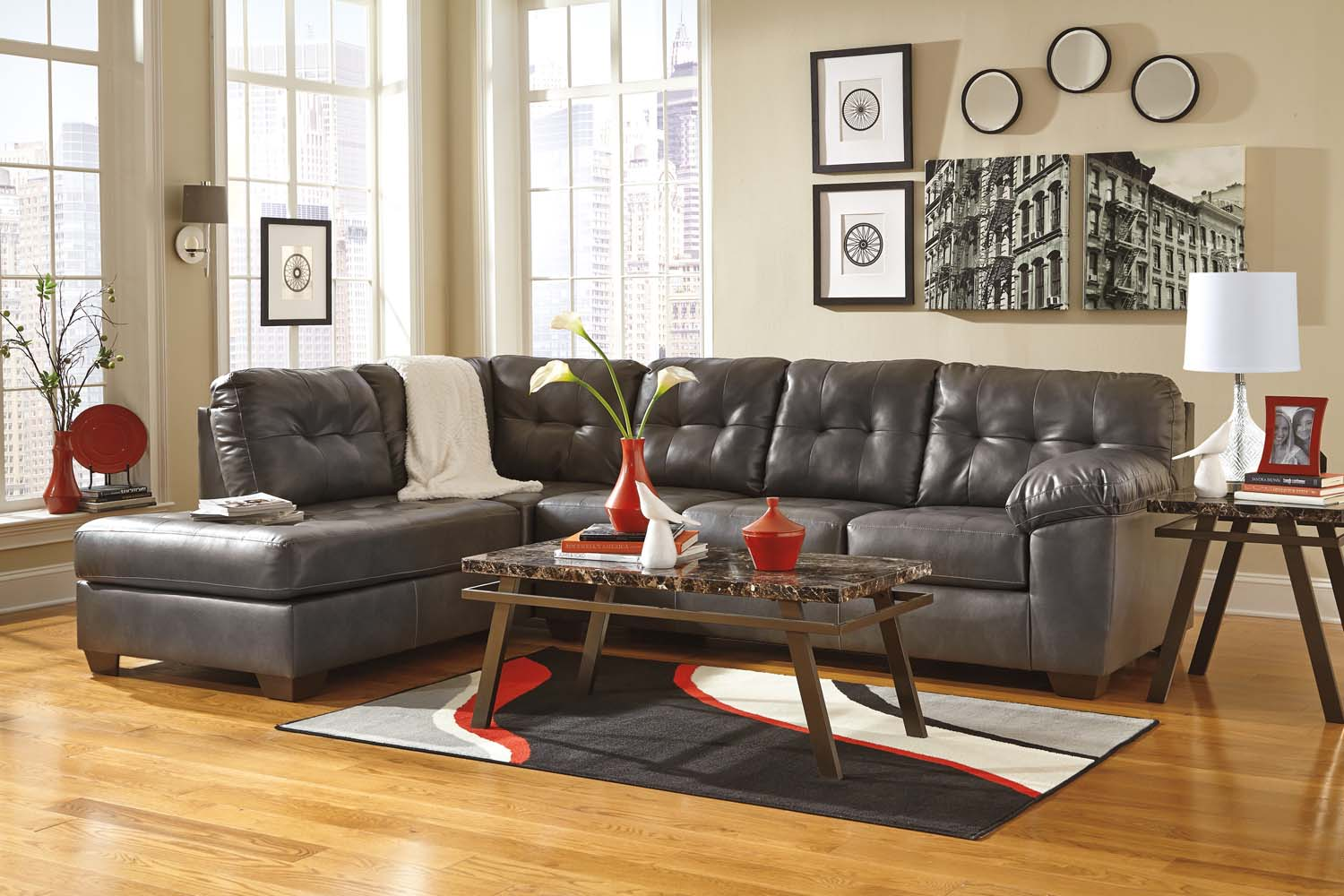 Hidden · Additional Alliston DuraBlend® - Gray 2 Piece Sectional : durablend sectional - Sectionals, Sofas & Couches