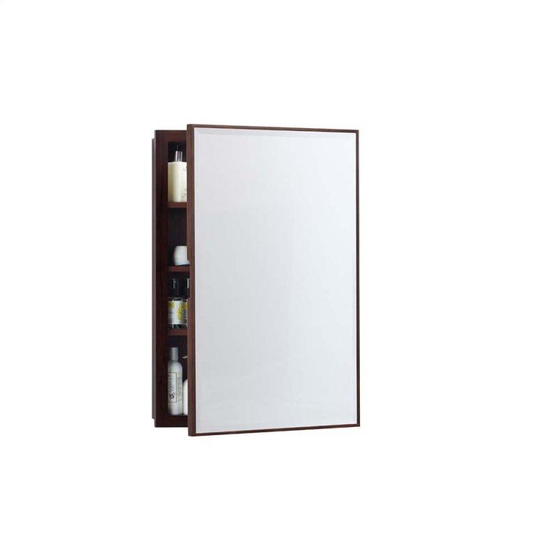 Transitional 23 X 33 Solid Wood Framed Medicine Cabinet In American Walnut