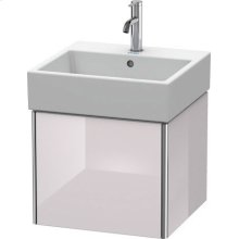 Vanity Unit Wall-mounted, White Lilac High Gloss Lacquer