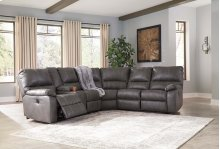 Warstein - Gray 3 Piece Sectional