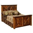 Barnwood Single Barndoor Platform Bed Product Image