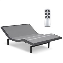 Falcon 2.0+ Low-Profile Adjustable Bed Base with Simultaneous Movement and Under-Bed Lighting, Charcoal Gray, Queen
