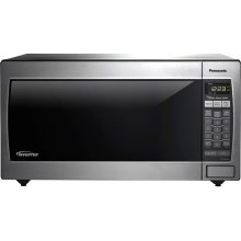 Full-Size 1.6 Cu. Ft. Genius Countertop/Built-In Microwave Oven with Inverter Technology, Stainless