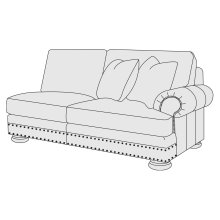 Foster Right Arm Loveseat in Molasses (780)