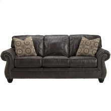 Benchcraft Breville Sofa in Charcoal Faux Leather