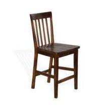 """24""""H Santa Fe Slatback Barstool w/ Wood Seat"""