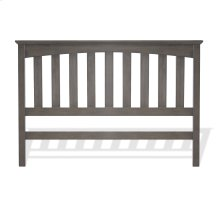 Hampton Wood Headboard Panel with Straight Spindles, Beachwood Gray Finish, Twin