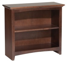 "CAF 29""H x 30""W McKenzie Alder Bookcase in Cafe Finish"