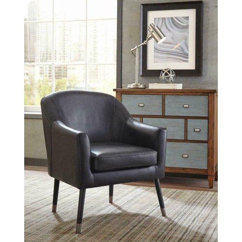 Mid-century Modern Black Accent Chair