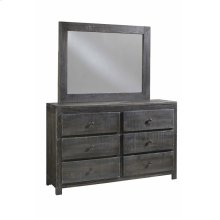 Drawer Dresser \u0026 Mirror - Charcoal Finish