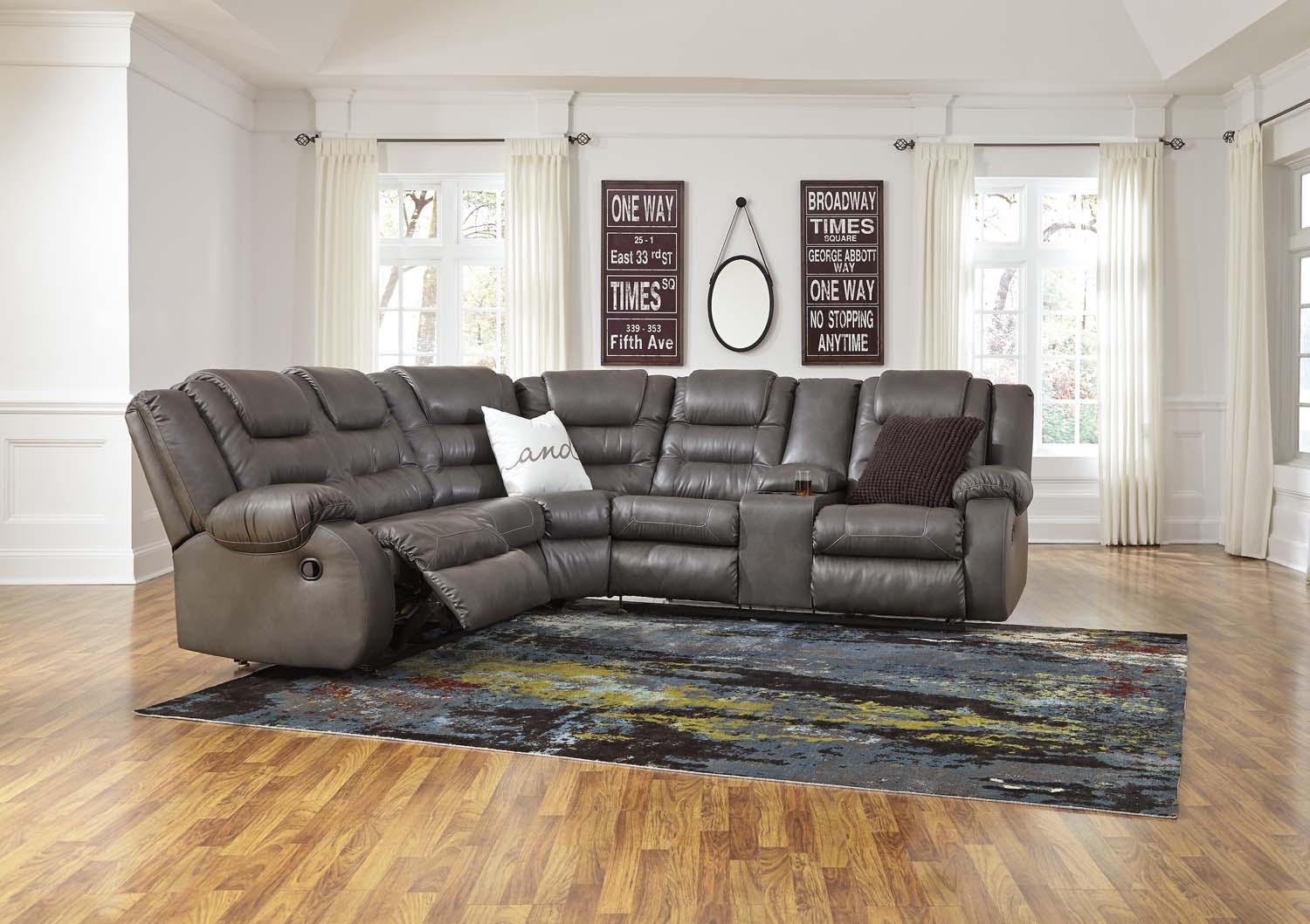 Walgast   Gray 2 Piece Sectional