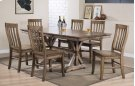"""78"""" Table w/ 18"""" Butterfly Leaf and 6 Chairs Product Image"""