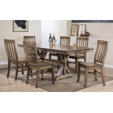 """78"""" Table w/ 18"""" Butterfly Leaf and 6 Chairs"""