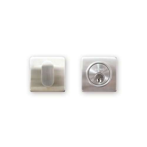 "LD Square Deadbolt, Single Cylinder, 2-3/8""Backset, US32D"