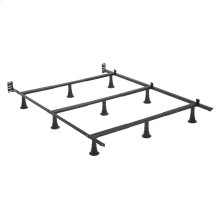 Prestige Premium Adjustable Bed Frame P34 with Push-Pin Size Adjustment and Oversized Recessed Glide Legs, Twin - Full