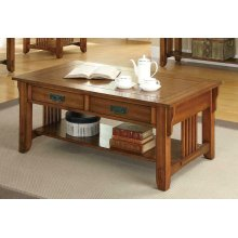 Occasional Traditional Oak Coffee Table