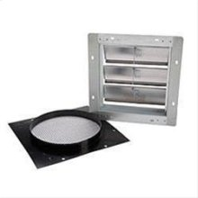 "Aluminum Wall Cap with gravity damper for 10"" round duct"
