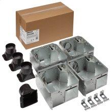 FLEX Series Humidity Sensing Bathroom Ventilation Fan Housing Pack, no Flange