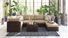 Spring Ridge - Beige/Brown 7 Piece Patio Set
