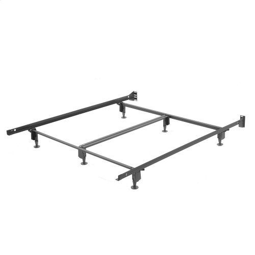 Inst-A-Matic Premium PC761G Bed Frame with Headboard Brackets and (6) 2-Piece Glide Legs, Powder Coat Finish, Queen