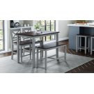 Asbury Park 4-pack - Counter Table With 2 Stools and Bench - Grey /autumn Product Image