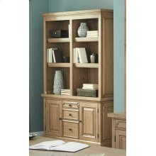 Florence Rustic Double Bookcase