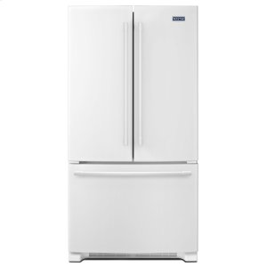 36-Inch Wide French Door Refrigerator - 25 Cu. Ft. White - WHITE