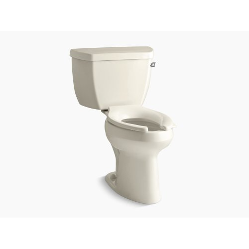 Almond Comfort Height Two-piece Elongated 1.0 Gpf Toilet With Pressure Lite Flush Technology and Right-hand Trip Lever
