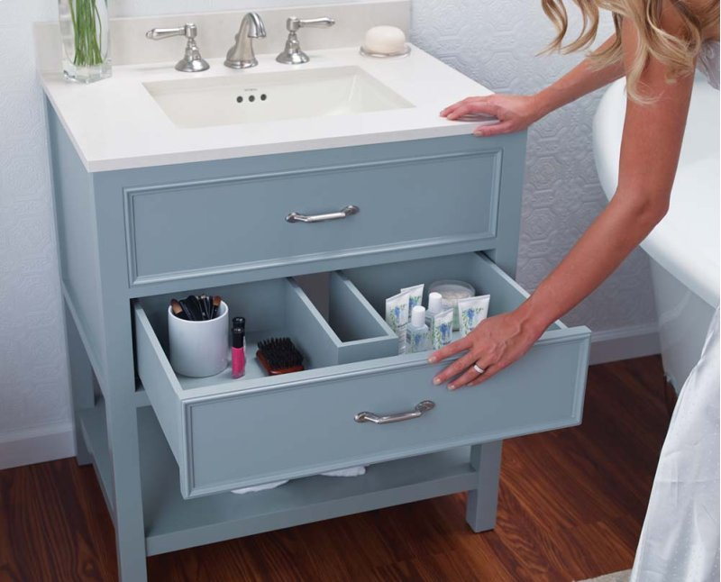 Newcastle 30 Bathroom Vanity Cabinet Base In Ocean Gray