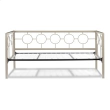 Astoria Complete Metal Daybed with Circle Design Panels and Link Spring, Champagne Finish, Twin