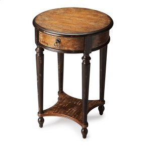Elegance and versatility make this table a great addition to virtually any space. Crafted from poplar hardwood solids and wood products, it features a dusty brown Old Spanish Mission hand-painted finish over birch veneers. Includes one drawer with aged br
