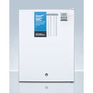 SummitCompact Commercially Listed Manual Defrost All-freezer With Nist Calibrated Thermometer and Lock