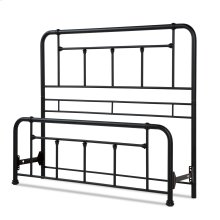 Baldwin Bed with Metal Posts and Detailed Castings, Textured Black Finish, Queen