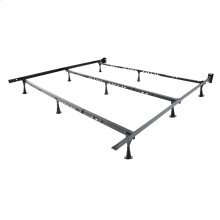 Solutions Compact Universal Folding Bed Frame with Tool-Free Assembly, Black Powder Coat Finish, Twin - King