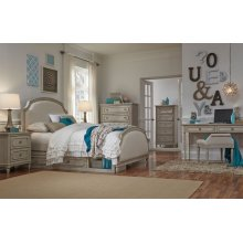 Emma Complete Upholstered Panel Bed, Twin 3/3