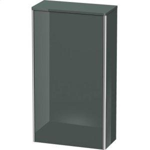 Semi-tall Cabinet, Dolomiti Gray High Gloss Lacquer