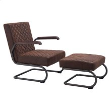 Father Lounge Chair Vintage Brown