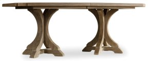 Dining Room Corsica Rectangle Pedestal Dining Table w/2-20in Leaves