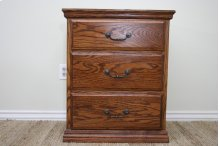 O-T450 Traditional Oak 3-Drawer Night Stand
