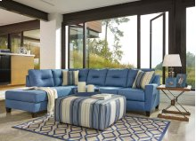 Kirwin Nuvella® - Blue 2 Piece Sectional