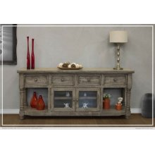 "80"" TV Stand 4 Drawer, 2 Door"