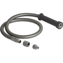 "44"" stainless steel hose and handle assembly"