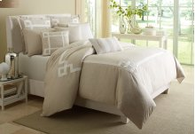 King 10pc Comforter Set Natural