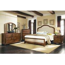 Laughton Rustic Brown Upholstered Eastern King Bed