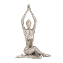 Seated Twist Yoga Pose Statue