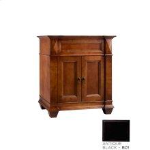"Torino 30"" Bathroom Vanity Cabinet Base in Antique Black"