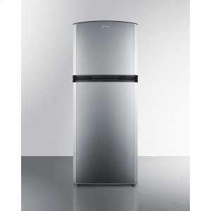 "SummitCounter Depth Frost-free Refrigerator-freezer With A 26"" Footprint, Factory-installed Icemaker, and Reversible Stainless Steel Doors"
