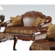 Chenille/pu Loveseat @note Product Image