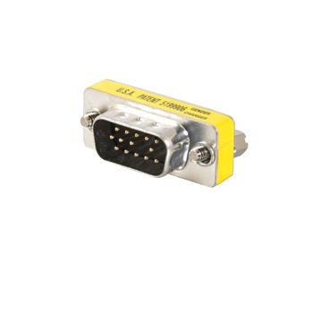 HD15 VGA M/M Mini Gender Changer (Coupler)